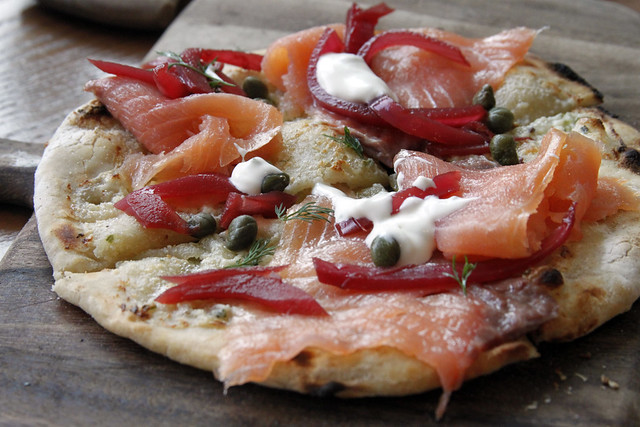 lox flatbread lox flatbread at brunch lox flatbread serves 4 lox is a ...