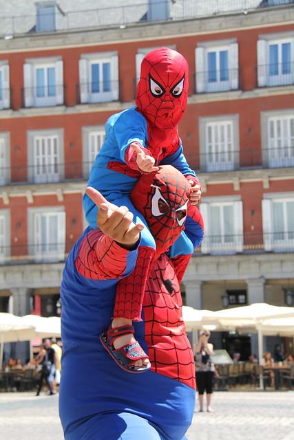 El Gordo Spiderman, Plaza Mayor, Spain, Madrid