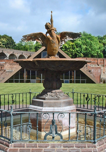 The Boy and Swan Fountain, Coalbrookdale, Shropshire  by stonemouse