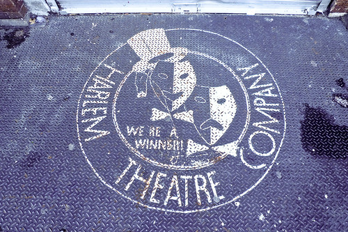 Harlem Theatre Company painted sign
