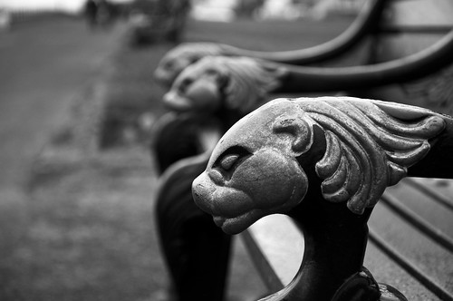 Lion headed Benches