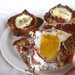 Breakfast Toast Cups w/ Whole Wheat Bread, Turkey Bacon, & Gruyere