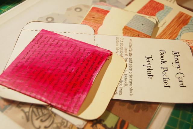 My library pockets - ideas by iHanna of www.ihanna.nu