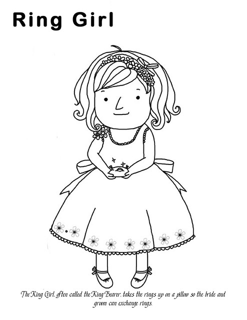 ring bearer coloring page