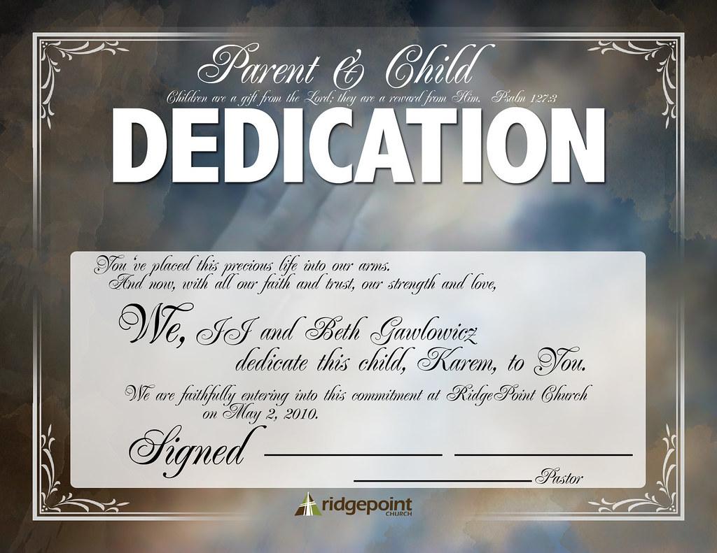 Babydedication Baby Dedication Certificate 1st Draft Goa Flickr