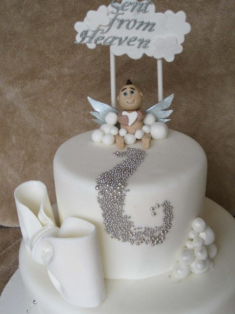 Cake Decoration Food Heaven : Sent From Heaven Baby Shower Cake Flickr - Photo Sharing!