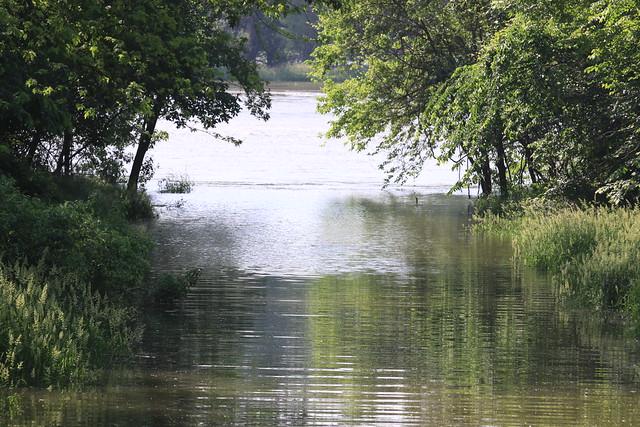 Missouri River Flooding Near Omaha