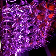Cocktail Glasses In Purple