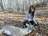 My gf with my deer