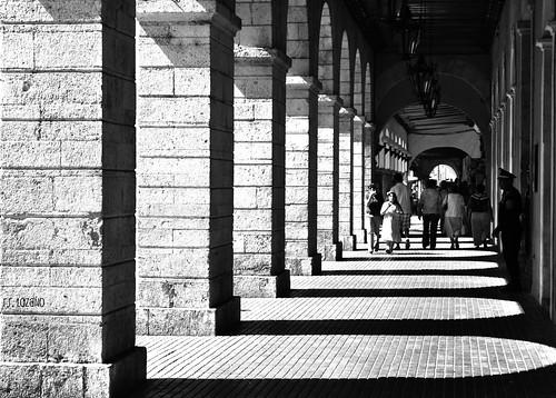 light shadow blackandwhite bw blancoynegro mexico nikon arch portishead strangers yucatan portales merida blackdiamond arcos d60 yucatán mérida méxico rocoeno