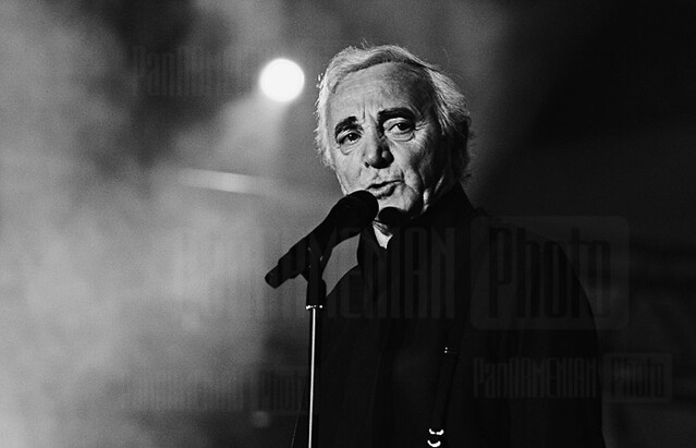 Charles Aznavour at the concert in Yerevan
