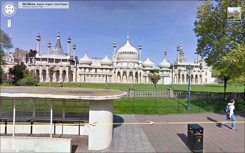 Brighton Pavilion in Google Street View