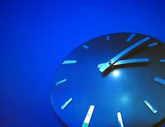 UF SignsOfLife Background Image Clock Blue