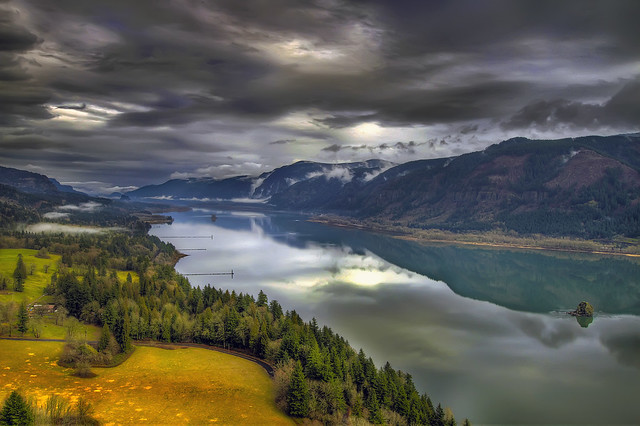 Columbia River Gorge from Cape Horn - Washington - HDR
