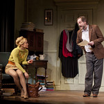 Jane Pfitsch (Rita) and Andrew Long (Frank) in the Huntington's production of Willy Russell's EDUCATING RITA directed by Maria Aitken, March 11 — April 10, 2011 at the Avenue of the Arts / BU Theatre. Photo: T. Charles Erickson