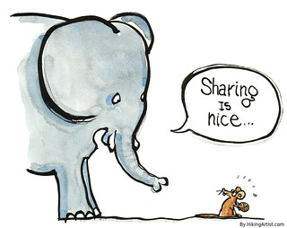 sharing with an elephant illustration