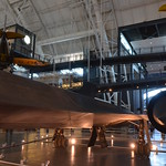 Steven F. Udvar-Hazy Center: Lockheed SR-71 Blackbird port panorama (Boeing P-26A Peashooter overhead)