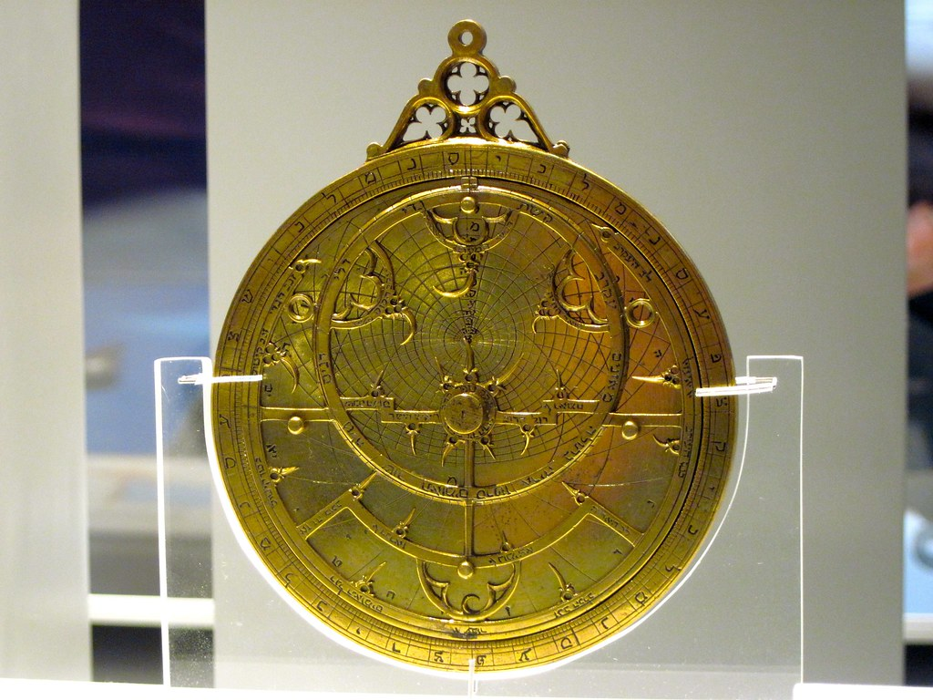 Astrolabe with Hebrew characters from Convivencia Spain (about 1350)