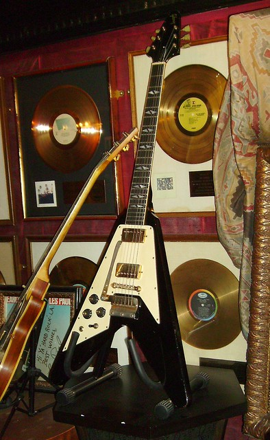 Photo:Jimi Hendrix's Flying V Gibson Guitar By Mike Cattell