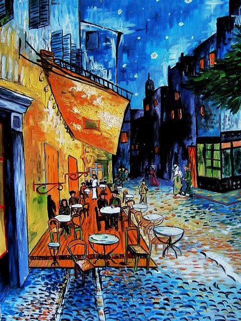 Van gogh esterno del caff di notte explore lucy li 39 s for Notte di van gogh