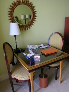 Desk at the Hilton on Barbados