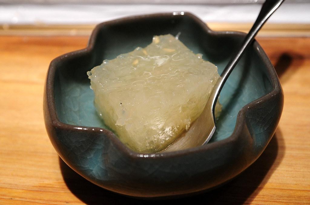 筌壽司-餐後甜點柚子凍