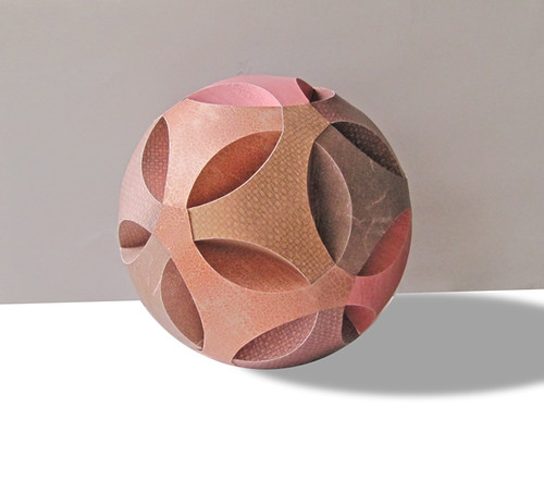 Paper Art - Brown Paper Sphere