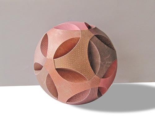 Paper Art - Brown Paper Sphere