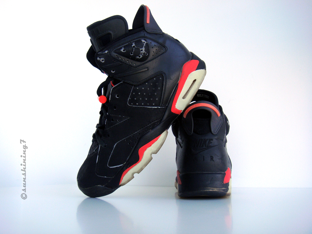 a33ace6bfefe ... Sunshining7 - Nike Air Jordan VI - 1991 - OG Black Infrared ...