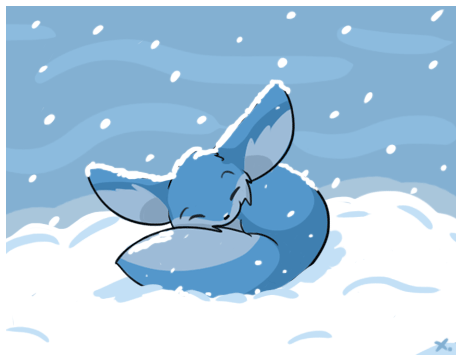 fennec in the snow