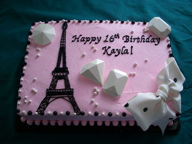 Paris Sheet Cake Ideas