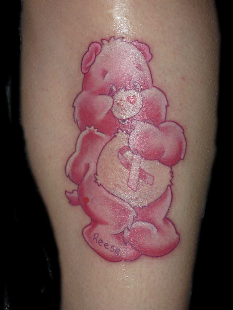 care bear tattoo breast cancer tattoo a photo on flickriver. Black Bedroom Furniture Sets. Home Design Ideas