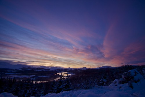 Sunset Over Loch Garry, 1st Jan 2010
