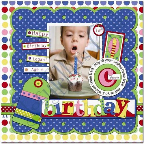 Birthday digital scrapbook layout #1 | Flickr - Photo Sharing!