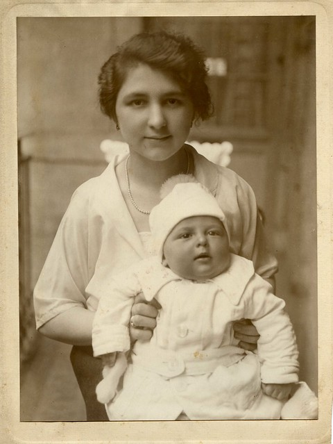 1925. My maternal grandmother and her first child