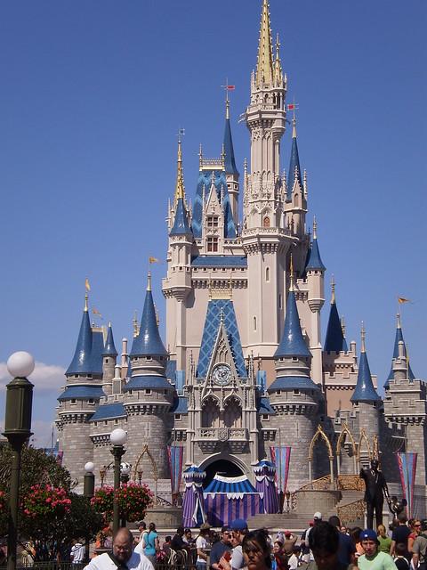Cinderella's castle in the movie