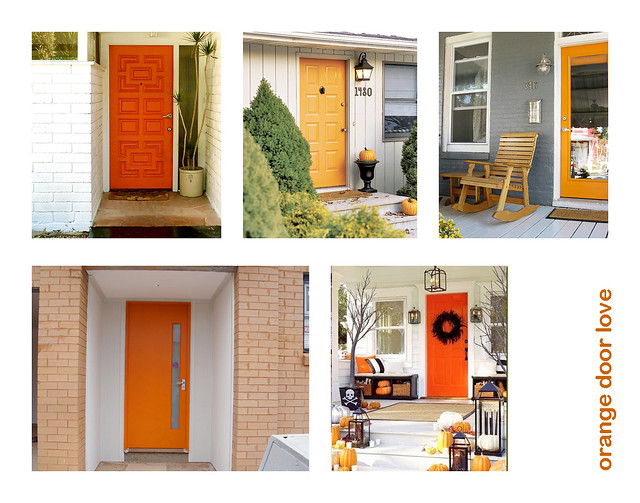 i heart orange front doors