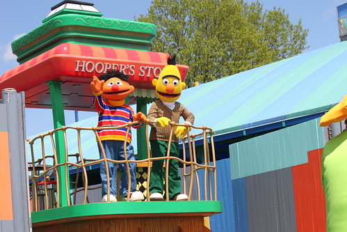 Bert and Ernie in the Sesame Place Parade