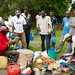 Porters Organize Food for Trek - Mt. Kilimanjaro, Tanzania