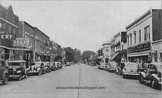 Main Street north to Third circa 1940