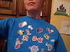 Aurelia insisted I put these stickers on my shirt