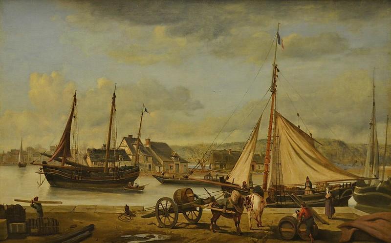 """Rouen (Seine-Maritime) - Musée des Beaux-Arts - """"Une marine ou Les Quais marchands de Rouen, 1834"""" (Jean-Baptiste-Camille Corot, 1796-1875)"""