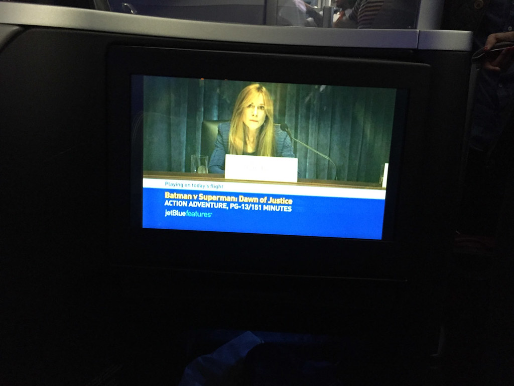 Inflight entertainment screen on JetBlue Mint | IFE