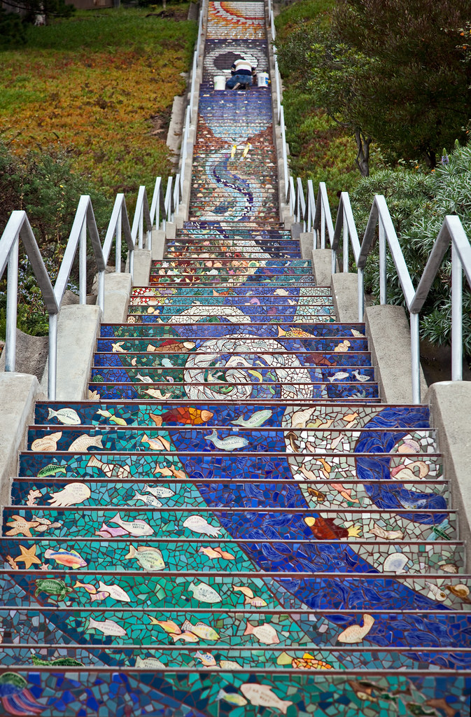 San Francisco The 16th Avenue Tiled Steps  Flickr. Blackletter Lettering. Presentation Banners. Reality Logo. Lit Murals. Anime Murals. Rust Banners. Incomplete Signs. Music Notes Signs Of Stroke