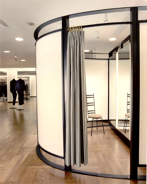 Barneys new york ny fixtures and dressing room in steel