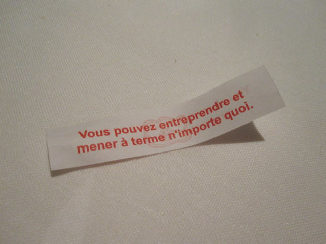 My fortune in French