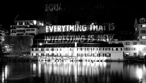 everything that's interesting is new (quote by Jenny Holzer)