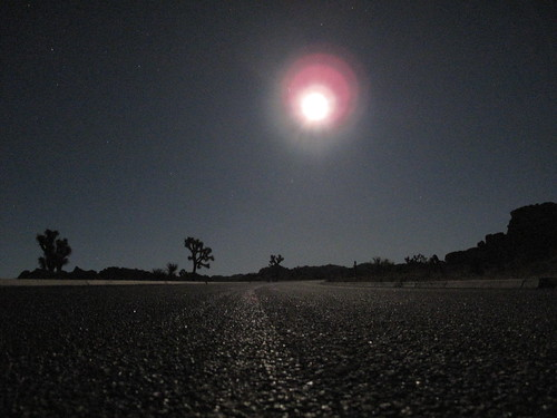 Moon risen, road clear