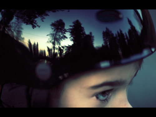 seattle trees reflection bike bicycle landscape mirror washington kid eyes child helmet son 2009 135mm 135mm20l 5dmarkii