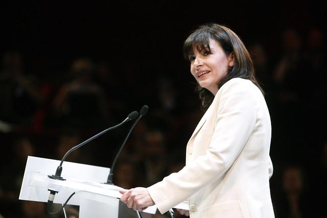Campagne régionale meeting à paris Anne Hidalgo